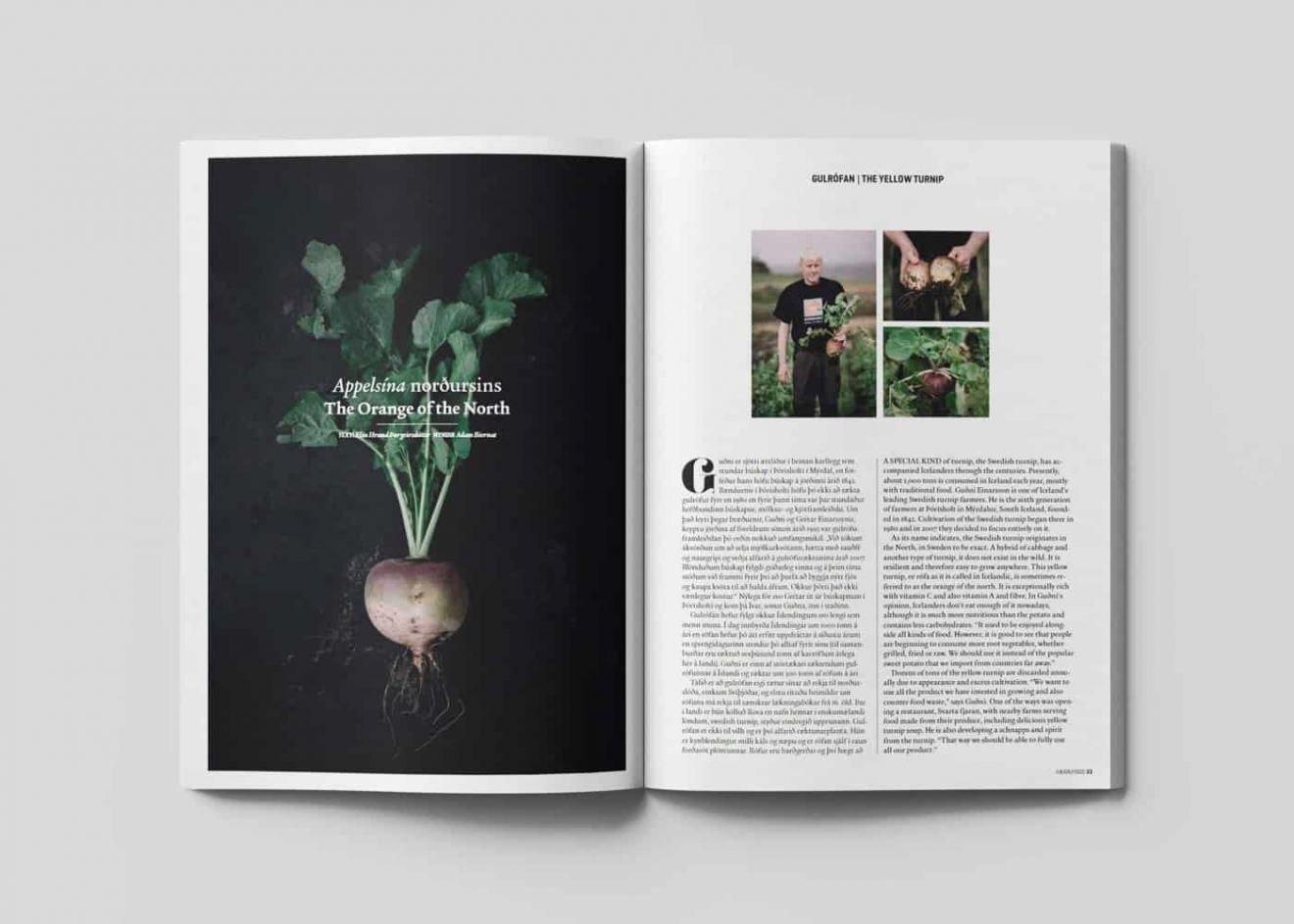 Sesja zdjęciowa dla islandzkiego magazynu Faeda/Food