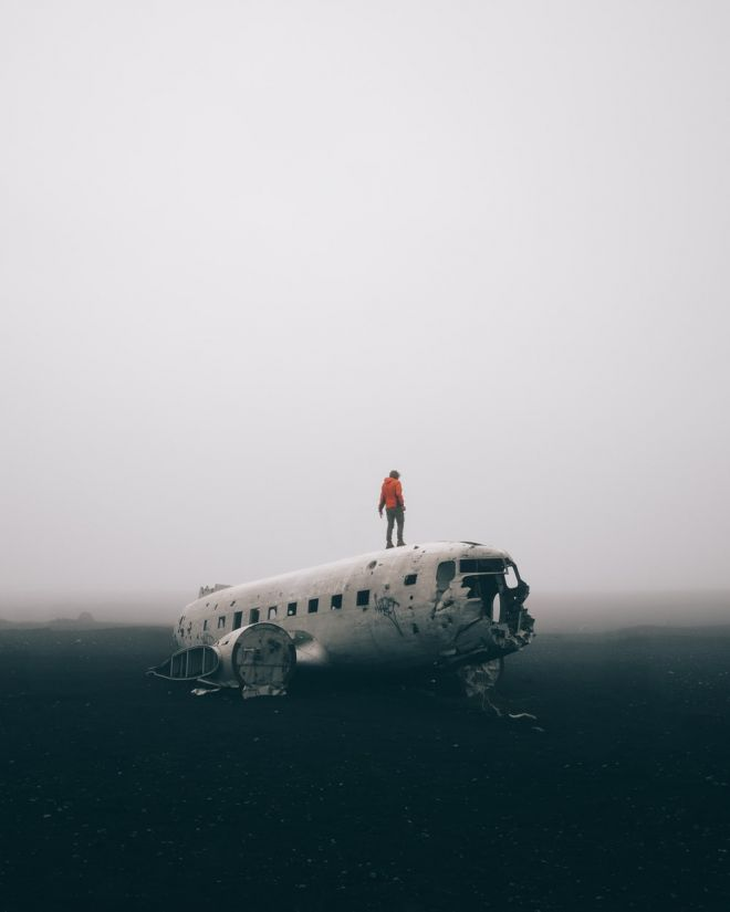 DC3 plane wreck at Solheimasandur in Iceland