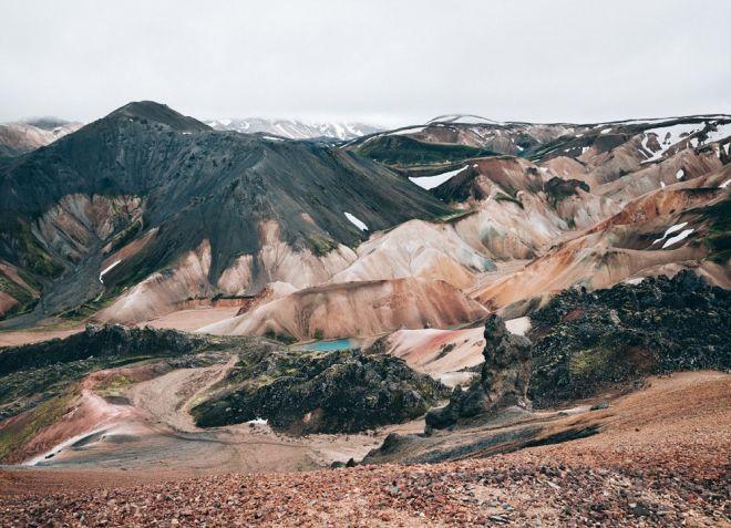 Landmannalaugar colorful mountains in Iceland