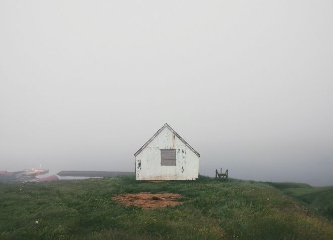 Lonely cabin in Iceland