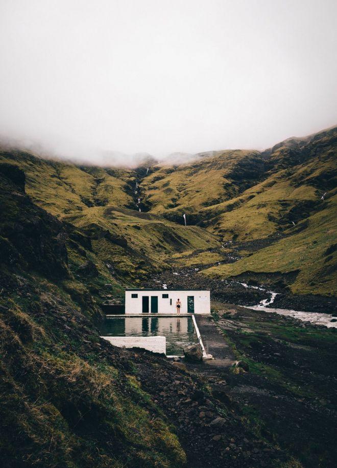 Iceland landscape photography - Seljavallalaug swimming pool